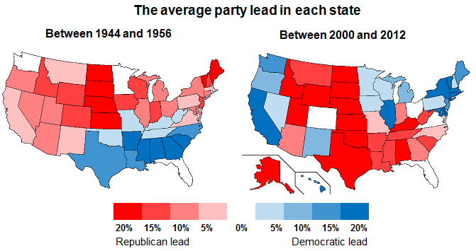 The changing face of the US electoral map - Opinium