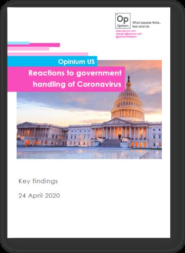 Reactions To The Us Government S Handling Of Coronavirus Opinium